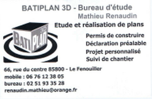 Carte De Visite BATIPLAN 3D Copier